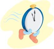 Zeit läuft heraus stock abbildung