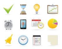 Zeit-Management-Ikonen Lizenzfreie Stockbilder