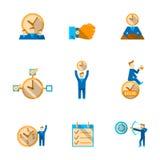 Zeit-Management-Ikonen eingestellt Stockbilder