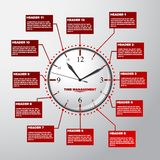Zeit-Managementziffernblatt und -zeitplan lizenzfreie stockbilder
