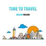 Zeit, mit der Familie zu reisen Stockbild