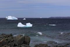 Zeit Neufundland-Eisbergs im Frühjahr stockfotografie