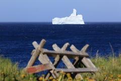 Zeit Neufundland-Eisbergs im Frühjahr stockfoto