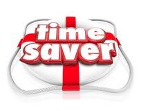 Zeit-Retter-Schwimmweste-Zunahme verbessern Leistungsfähigkeit Productivi lizenzfreie abbildung