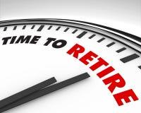 Zeit, sich - Borduhr zurückzuziehen Lizenzfreie Stockfotos