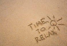 Zeit sich zu entspannen Stockbilder