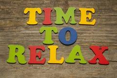 Zeit sich zu entspannen Lizenzfreies Stockbild