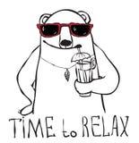 Zeit sich zu entspannen vektor abbildung