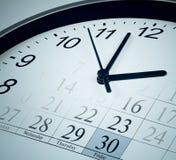 Zeit, Stichtag, Ende des Monatsgeschäftskonzeptes Stockfotos
