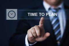 Zeit, Strategie-Erfolgs-Projekt-Ziel-Geschäfts-Technologie-Internet-Konzept zu planen lizenzfreie stockbilder
