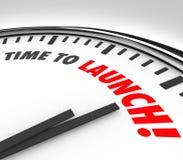 Zeit, Uhr-Fristen-Count-down-neue Geschäfts-Produkt-COM zu starten Stockfotografie