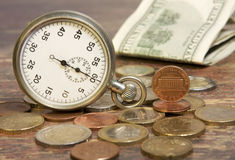 Zeit und Geld Lizenzfreie Stockfotografie