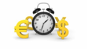 Zeit und Geld stock footage