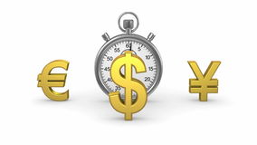 Zeit und Geld stock video footage
