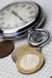 Zeit und Geld Lizenzfreie Stockfotos