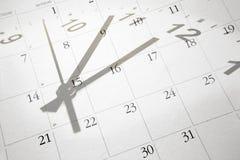 Zeit und Kalender Lizenzfreies Stockbild