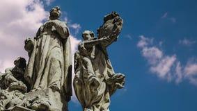 Zeit-Versehen der Statue stock video
