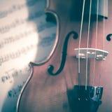 Zeit, Violine zu üben Lizenzfreies Stockbild