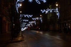 Zeit von Weihnachtsgeschichten, Gediminas-Allee stockfotos
