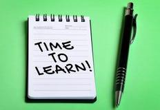 Zeit, Wort zu lernen Lizenzfreies Stockfoto