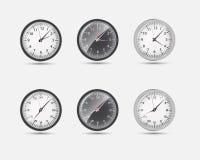 Zeit-Zonen-Weltvektorillustration Lizenzfreie Stockfotos