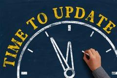 Zeit zu aktualisieren Lizenzfreie Stockfotografie