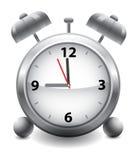 Zeit zu arbeiten! Klassische Alarmuhr Stockbild