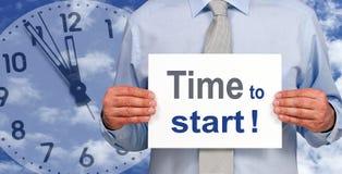 Zeit zu beginnen  Lizenzfreie Stockfotos