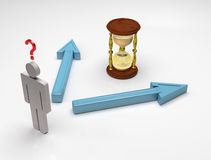 Zeit zu entscheiden Lizenzfreies Stockfoto
