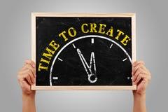 Zeit zu erstellen lizenzfreies stockfoto