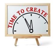 Zeit zu erstellen lizenzfreies stockbild