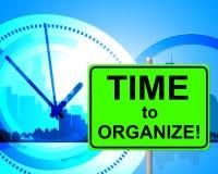 Zeit zu organisieren stellt im Augenblick dar und vereinbarte vektor abbildung