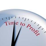 Zeit zu profitieren Stockfoto
