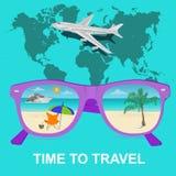 Zeit, zu reisen Konzept, Berufung, Vektorillustration vektor abbildung