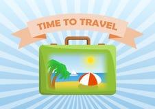 Zeit, zu reisen Tasche Lizenzfreie Stockfotos
