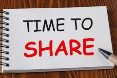 Zeit zu teilen stockbild