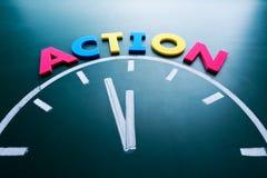 Zeit zum Aktionskonzept Stockbild