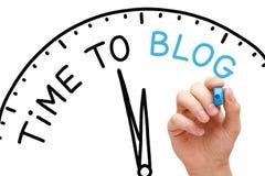 Zeit zum Blogkonzept Lizenzfreies Stockfoto