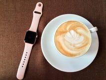 Zeit zum Cappuccino Stockfoto