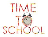 Zeit zurück zu zur Schule Stockfotografie