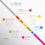 Zeitachse-Berichtsschablone Vektor Infographic diagonale Stockfotos