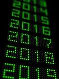 Zeitachse 2018 des neuen Jahres Stockbilder