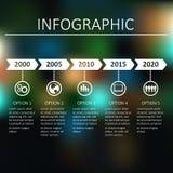 Zeitachse Infographic Stockfotografie