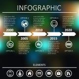 Zeitachse Infographic Lizenzfreie Stockbilder