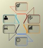 Zeitachse Infographic, Vektor-Schablonen-Illustration Lizenzfreie Stockfotografie