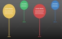 Zeitachse infographic, Zeitachse infographics, Zeitlinie infograph Stockbilder