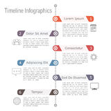 Zeitachse Infographics Lizenzfreie Stockbilder