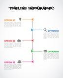 Zeitachse Infographics Stockfotografie