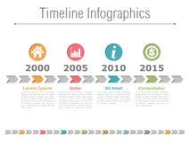 Zeitachse Infographics Stockbilder