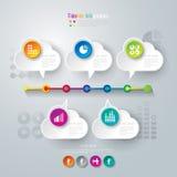 Zeitachse infographics Designschablone. Lizenzfreies Stockbild